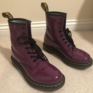 Dr. Martens Purple Boots